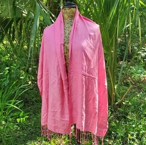 unknown Accessories - Pink Pashmina style Scarf